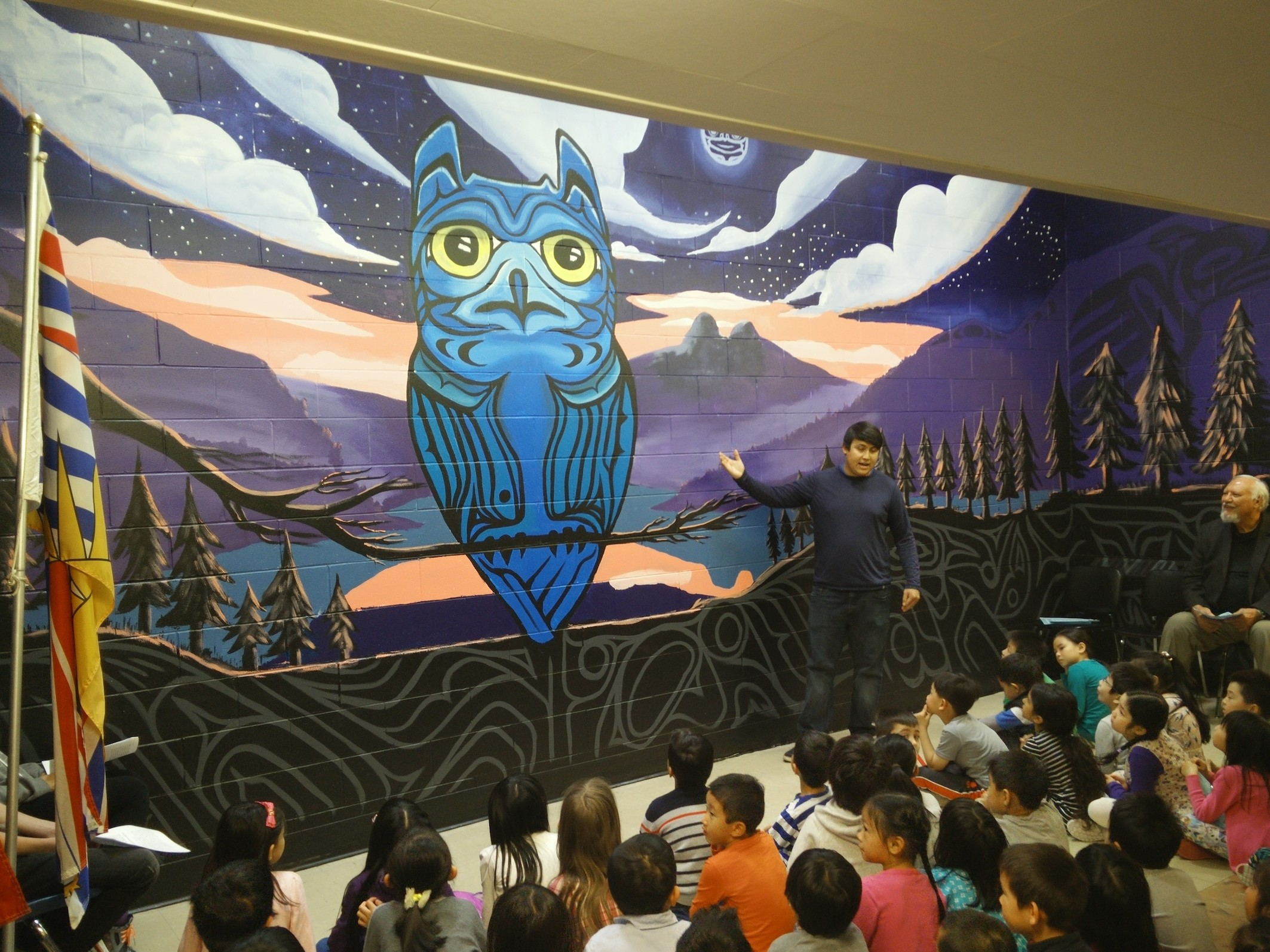 Osler elementary unveils new mural vancouver school board for Mural vancouver