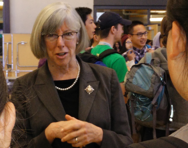Students had a chance to mingle with the Hon. Judith Guichon, Lt. Governor of British Columbia,