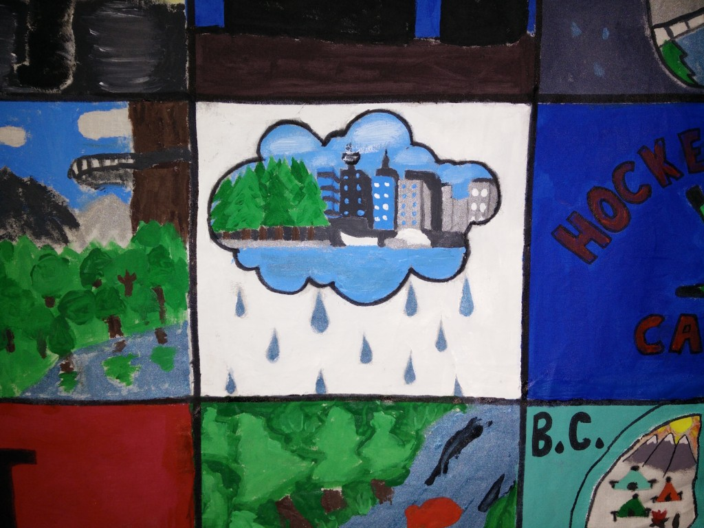 One of the Vancouver images painted by Weir Elementary students