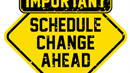 picture title Schedule change