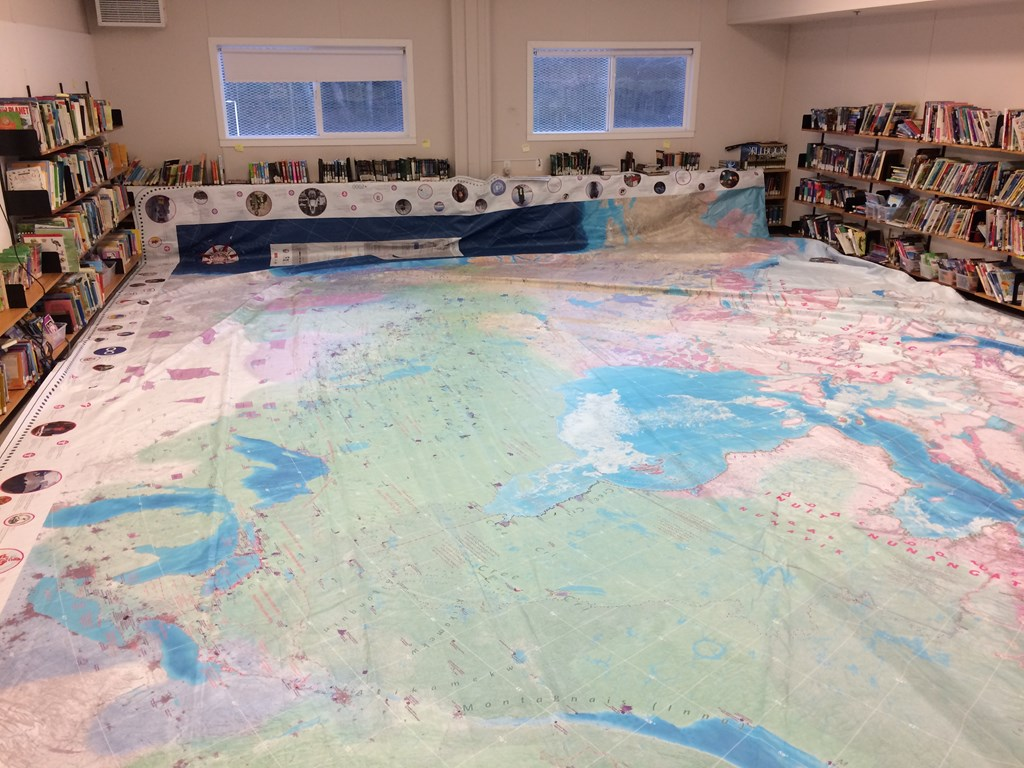 Indigenous Peoples' Map at Bayview Feb, 2020